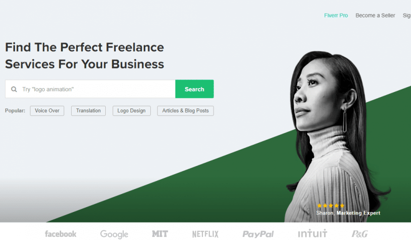 Fiverr Freelancing Marketplace
